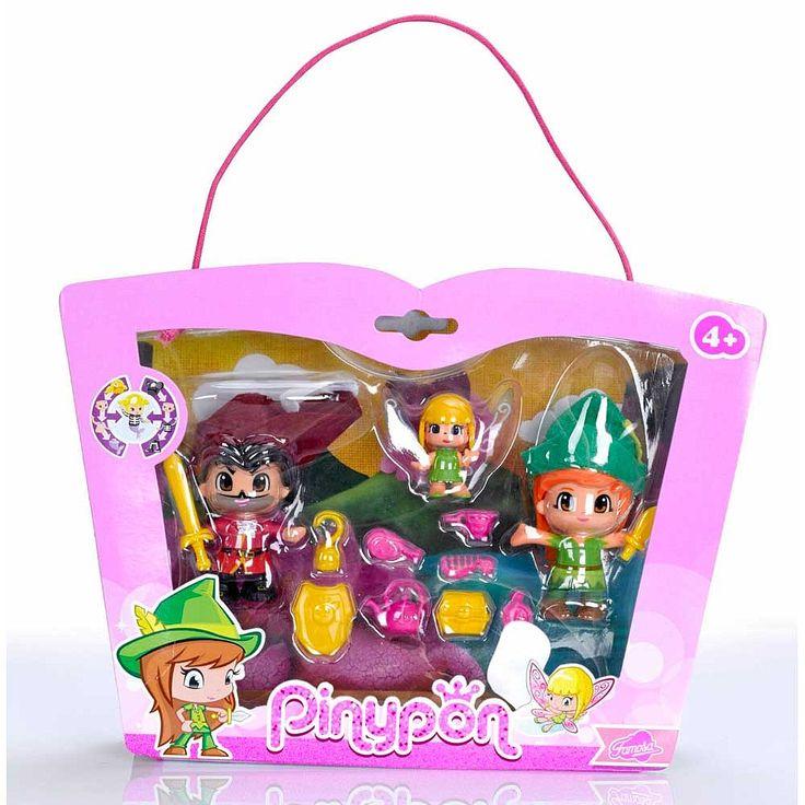 Pinypon - Peter Pan, Capitão Gancho e Sininho