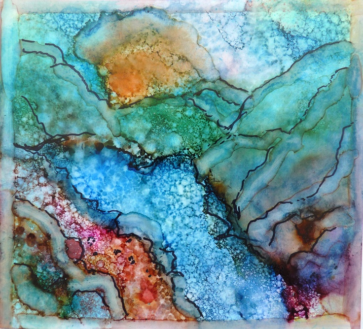 Alcohol Ink Art Print by Maure Bausch by twopoots on Etsy