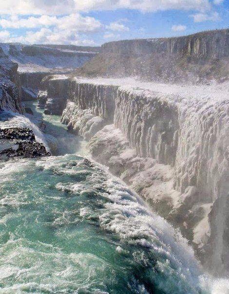 Гюдльфосс — водопад в Исландии