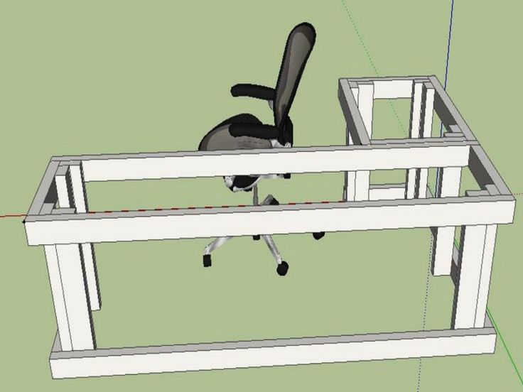 L shaped desk plans diy google search projects for Wrap around desk plans