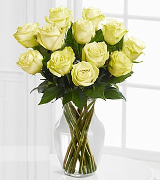 Order one dozen white roses for your fiance` just because. Send her this bouquet…