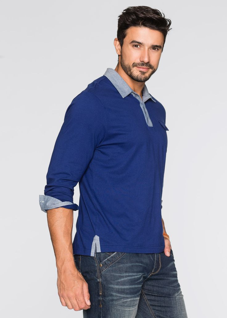 Maglia a manica lunga regular fit Blu - John Baner JEANSWEAR è ordinabile nello shop on-line di bonprix.it da ? 19,99. Taschino applicato con patta e ...