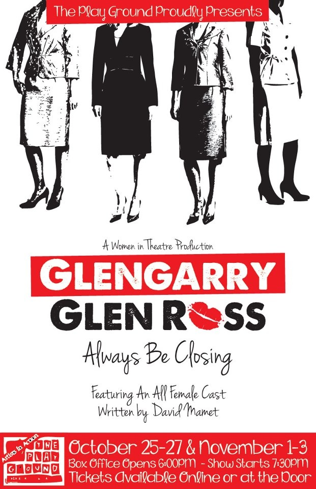 Poster for the 2012 production of Glengarry Glen Ross