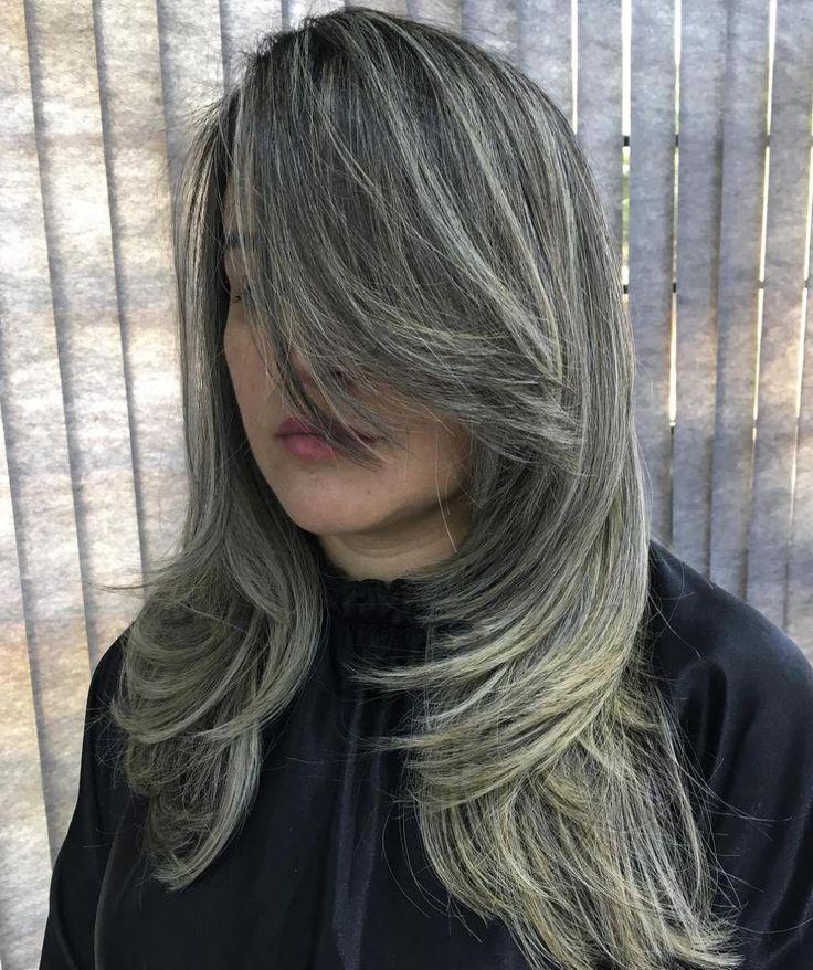 Long Side Bangs For A Medium Layered Haircut