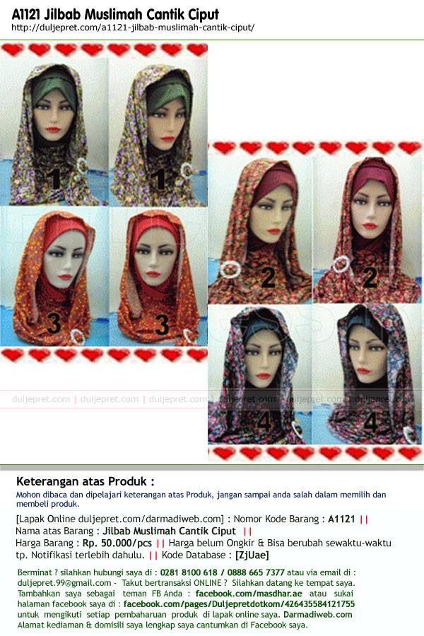 A1121 Jilbab Muslimah Cantik Ciput
