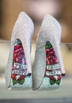 the perfect sparkly silver wedding shoes - till death do us part