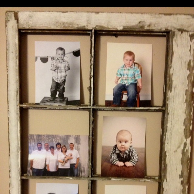 Re use old window frames for photos home decor pinterest for How to use an old window as a picture frame