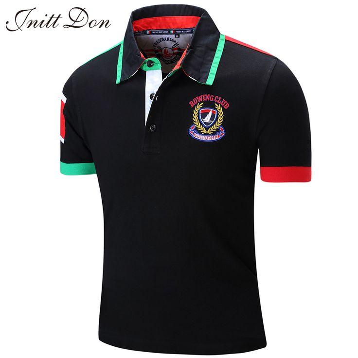 Ouma standaard maat! 2016 mannen poloshirt brand golf tennis Italiaanse Stijl 100% katoen korte mouwen polo shirts zwart polo mannen(China (Mainland))