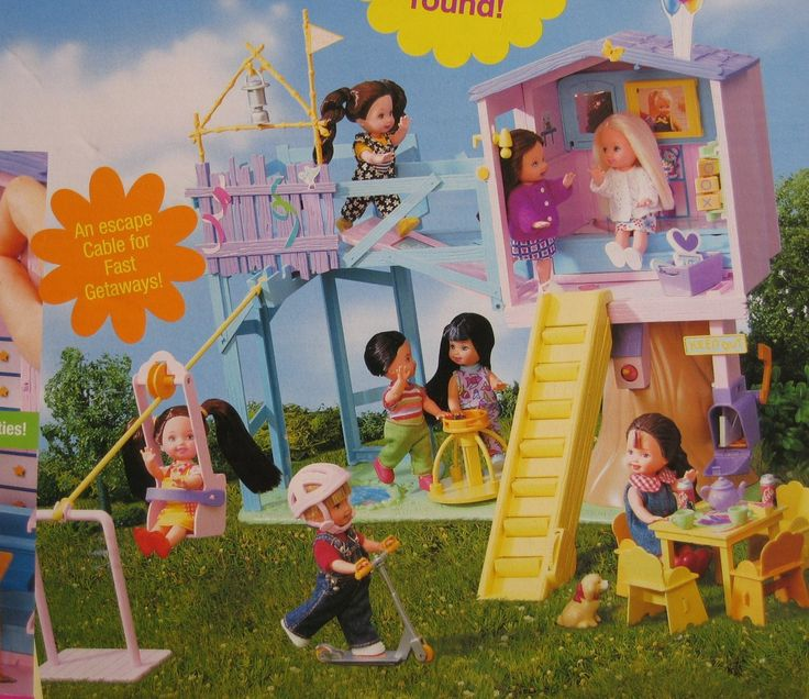 Barbie KELLY LOTS OF SECRETS CLUBHOUSE Playset CLUB HOUSE w MESSAGE CENTER & Crayon, & MORE! (2001)
