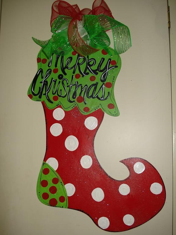 92 Best Christmas Door Hangers Images On Pinterest