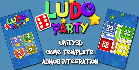 Ludo Party Unity3D Source Code + Admob Integrated + Android iOS
