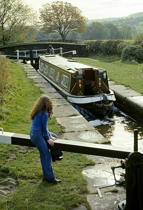 Narrow Canal Lock Uk 1975 ©David Davies