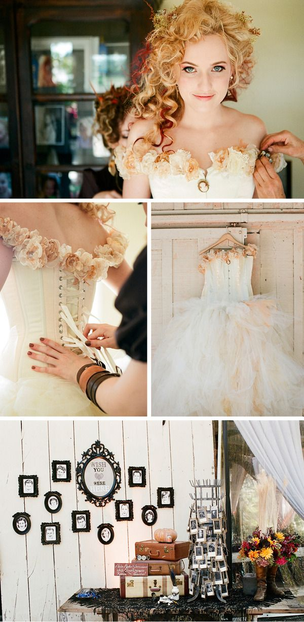 Love this bride's style...want that bodice, though maybe I'd substitute the flowers along the top for lace