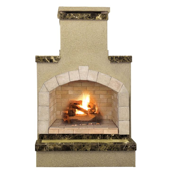 Shop Cal Flame  FRP908-2-2 48-in Outdoor Liquid Propane Gas Fireplace in Porcelain Tile at The Mine. Browse our outdoor fireplaces, all with free shipping and best price guaranteed.