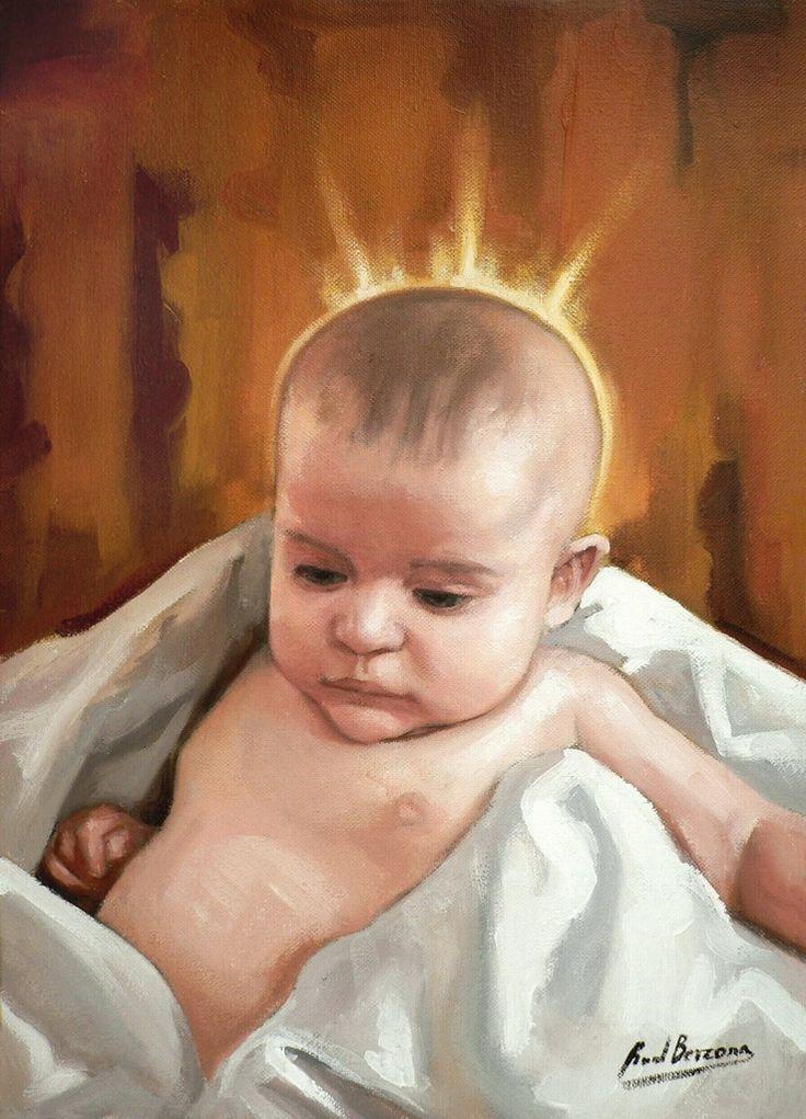 ::RAÚL BERZOSA pinta Niño Jesús (Málaga).