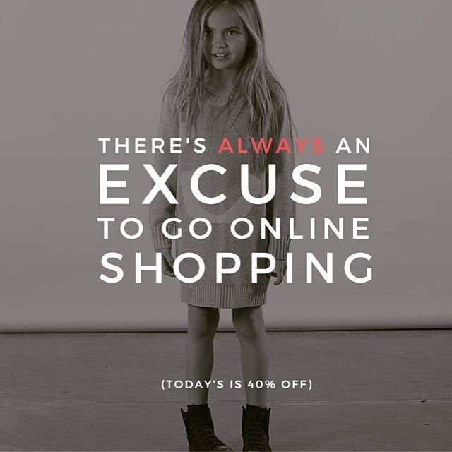 40% OFF EVERYTHING The excuse you have been waiting for... #eofysale #littlestyles