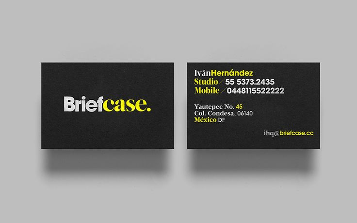 Visual identity and business cards for Briefcase designed by Anagrama.