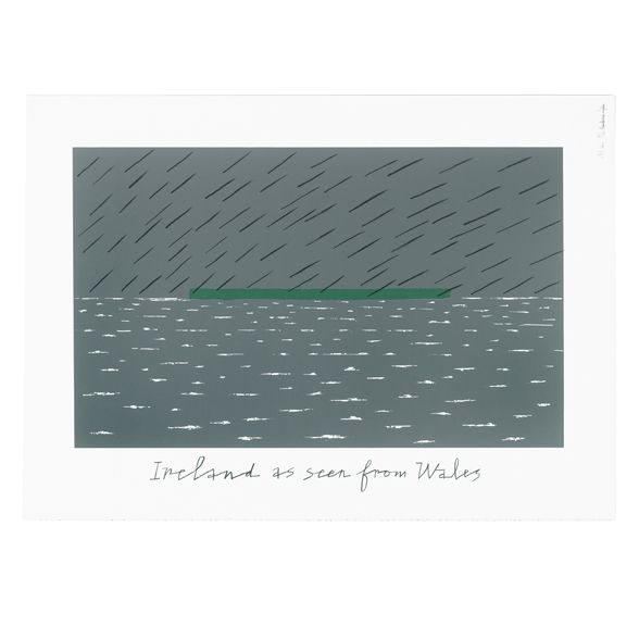 Screen print: Ireland as seen from Wales | Alan Fletcher