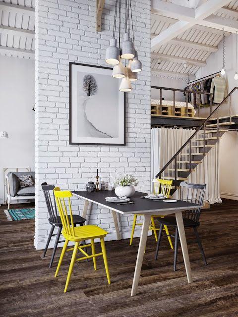 Die besten 25+ Yellow scandinavian bathrooms Ideen auf Pinterest - industrial look wohnzimmer