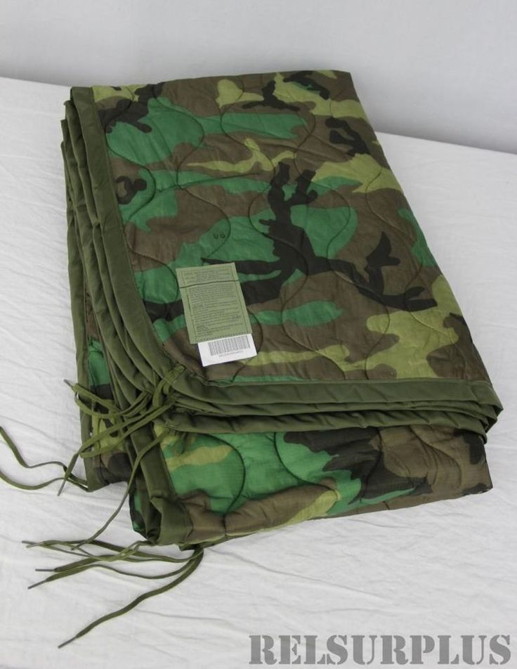 Woodland Camo Poncho liner Woobie Blanket US Military Surplus NEW