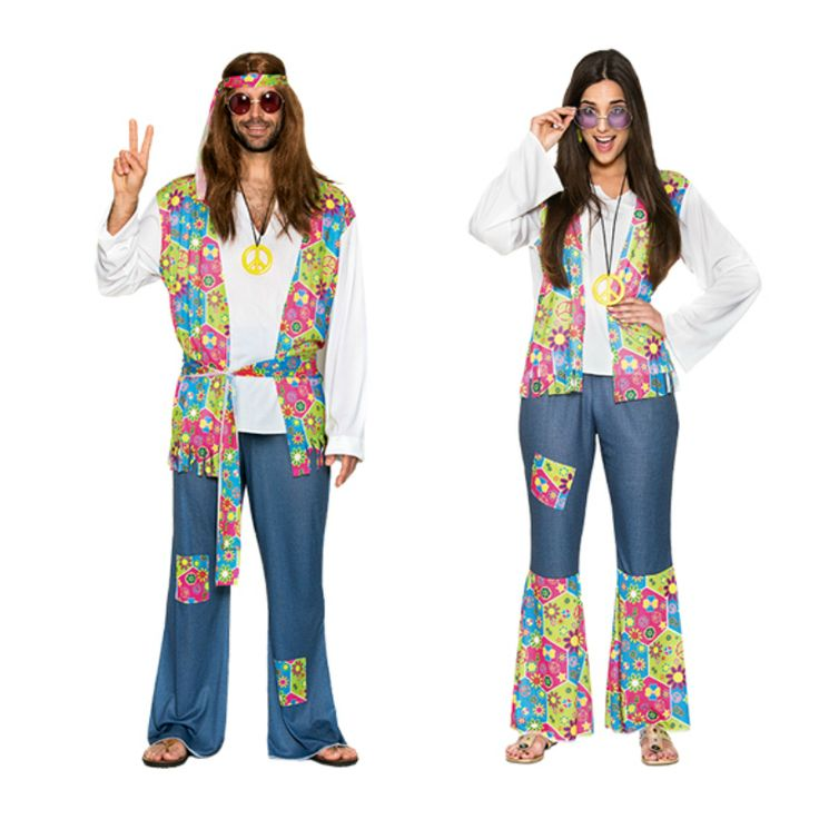 Pareja de Hippies #parejas #disfraces #carnaval #novedades2015
