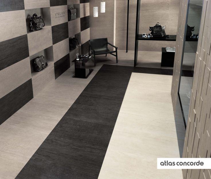 #MARK chrome, gypsum and graphite | #Floor design | #AtlasConcorde | #Tiles | #Ceramic | #PorcelainTiles