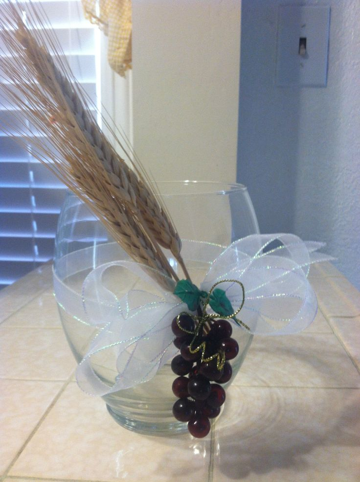 First Communion Center Piece Vase
