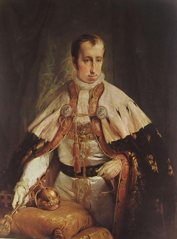 """""""Imperatore Ferdinando I d'Austria"""", Francesco Hayez, 1840; olio su tela,121x96 cm; il ritratto è esposto al Museo del Risorgimento, Milano."""