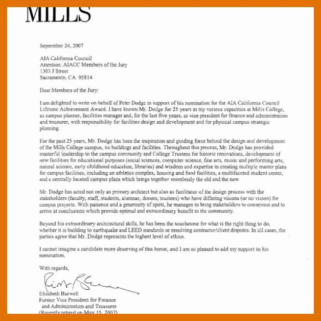 30 Letter Of Recommendation For Awards In 2020 Letter Of