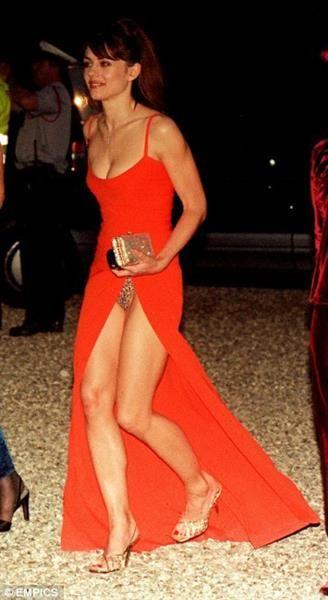 Леопардовое платье элизабет херли