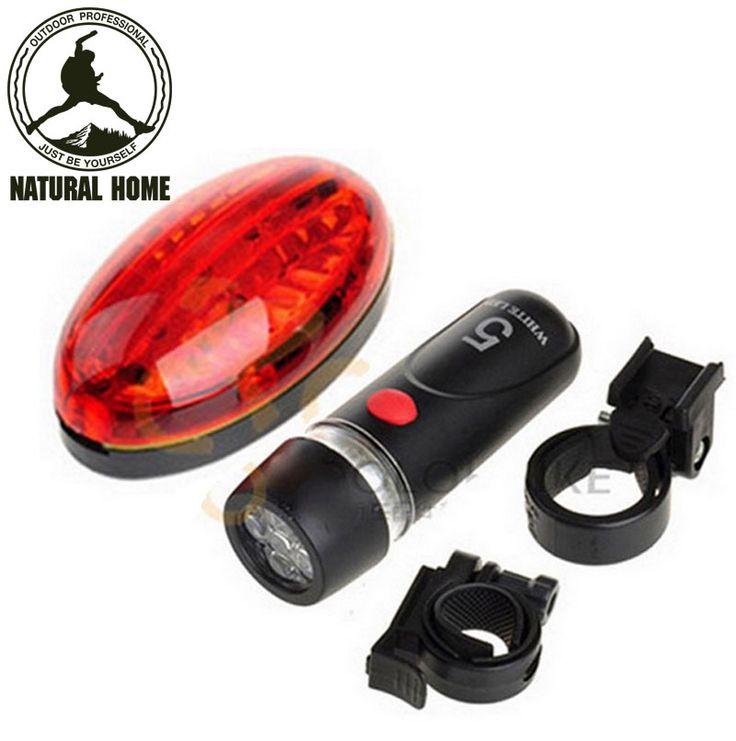 Naturalhome outdoor مشرق أضواء led الجبهة الخلفية ضوء إشارة المرور الرياضية brand new دراجة أضواء + حامل مجموعة