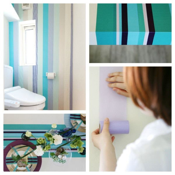Washi Tape in the home on walls and furniture
