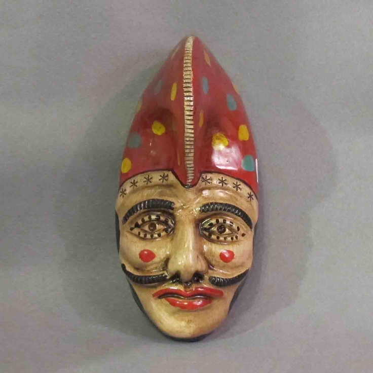 """Mud mask """"Peliqueiro"""" (Galician carnival character). Handmade by galician potters. Artcraft of The Way of St.James. Tax free $34.90"""