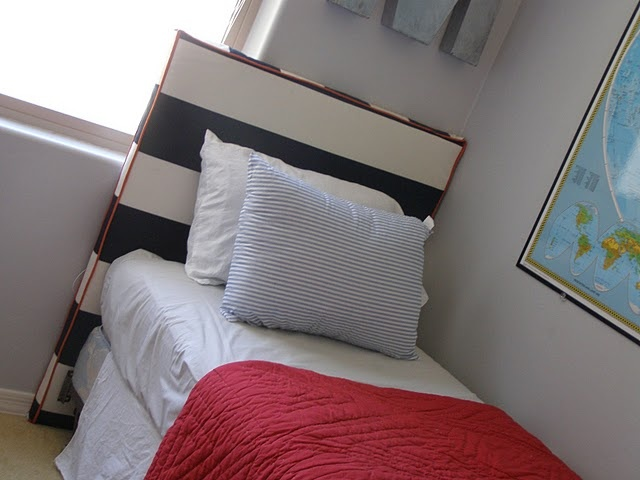 Diy upholstered kid 39 s headboards way cute i 39 d do for Do it yourself headboards with fabric