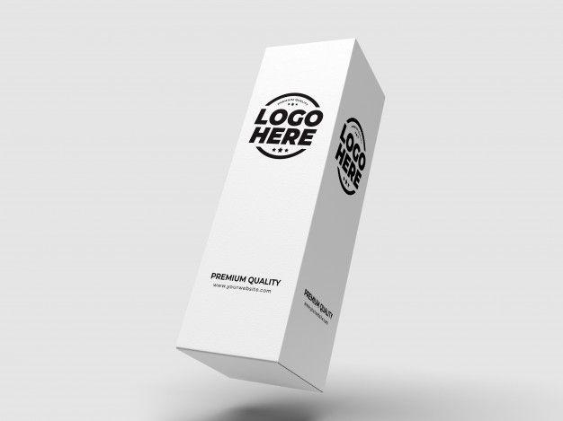 Download White Tall Box Package Mockup Premium Psd Freepik Psd 3d Box Box Mock Up Branding Carton Clean Closed Container Cosmetic Design Empty Di 2020