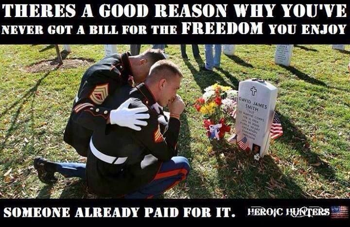 Freedom isn't free it may seem that way to you but it's not like that for me.