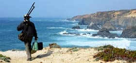 Fisherman on Portugal's west coast along the Rota Vicentina.