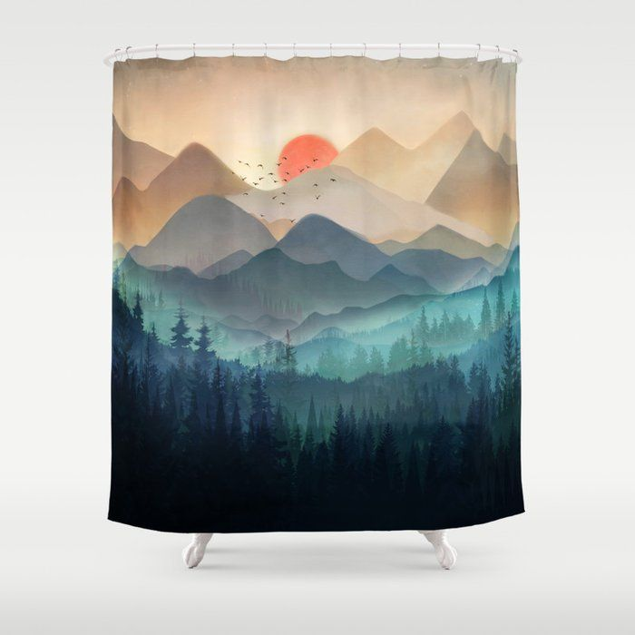 Buy Wilderness Becomes Alive At Night Shower Curtain By Nadja1 Worldwide Shipping Available At Society6 Com Shower Curtain Bathroom Decor Accessories Curtains