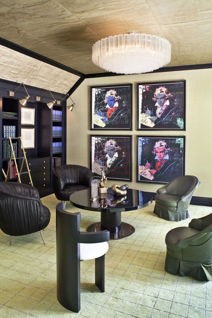 KELLY WEARSTLER | INTERIORS. Evergreen Residence, Music Room
