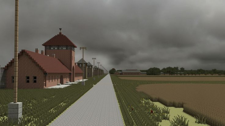 Auschwitz-Birkenau återskapat i Minecraft
