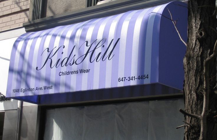 Waterfall stationary awning for Kids Hill