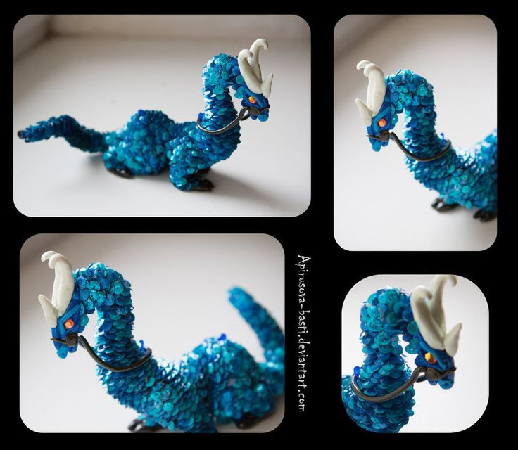 Cyan dragon 2_12 by Apirusova-Basti on DeviantArt #Dragon #Sculpt