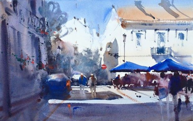 Art Retreats In Spain With The Best Watercolor Masters Master Watercolor Watercolor Landscape Watercolor Paintings Easy
