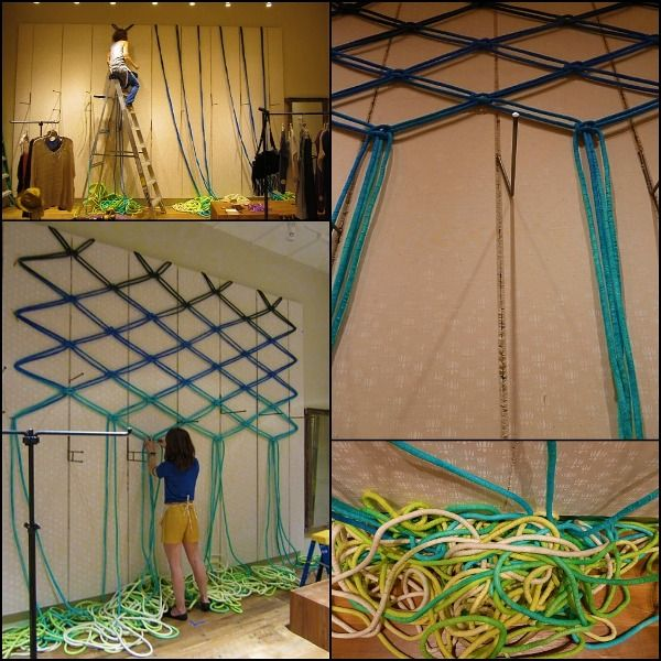 Totally Amazing!...which they make into these awesome giant macrame wall displays!