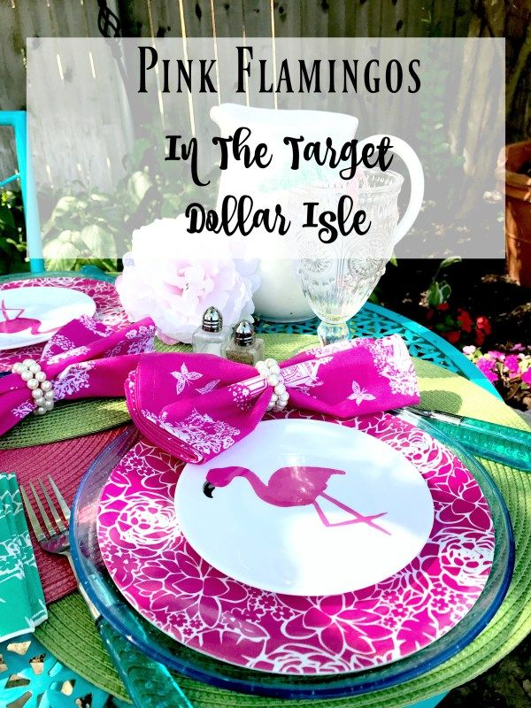 Pink Flamingos in the Target Dollar Isle