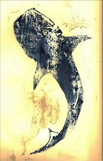 Woodcut Whale Shark
