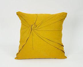 """Starburst Pillow in Goldenrod Yellow by Carol Gilbert (Linen Pillow) (18"""" x 18"""")"""