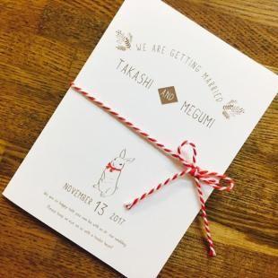 招待状|手作りキット | 【招待状 うさぎ】手作りキット | ブライダル | ■【招待状】 | 席札、席次表、ウェディングツリーや出産祝いに適したアイテムを取り揃えております