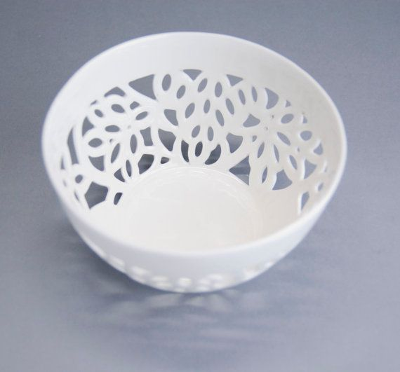 Carved bowl porcelain bowl kitchen bowl handmade by imkadesign