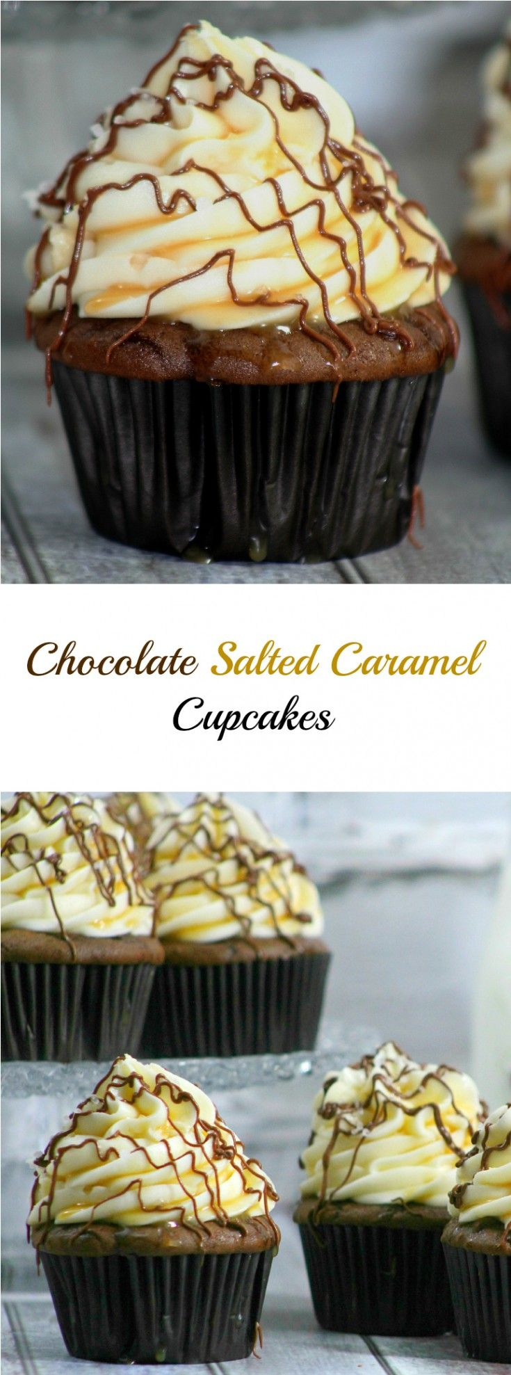 Chocolate and salted caramel go together so well, they are the perfect pair. The taste of Chocolate Salted Caramel Cupcakes is like heaven in every bite.